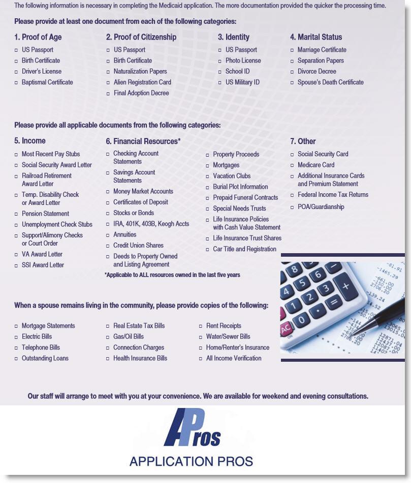 Medicaid Checklist For Eligibility